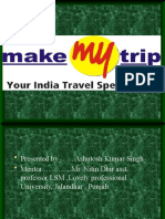 Presentation on Make My Trip by Ashutosh Kumar Singh,LPU