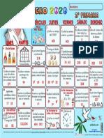 2°  calendario mate enero