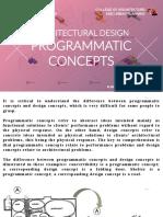 Architectural Design 1 - Lecture 11 - Programmatic Concepts