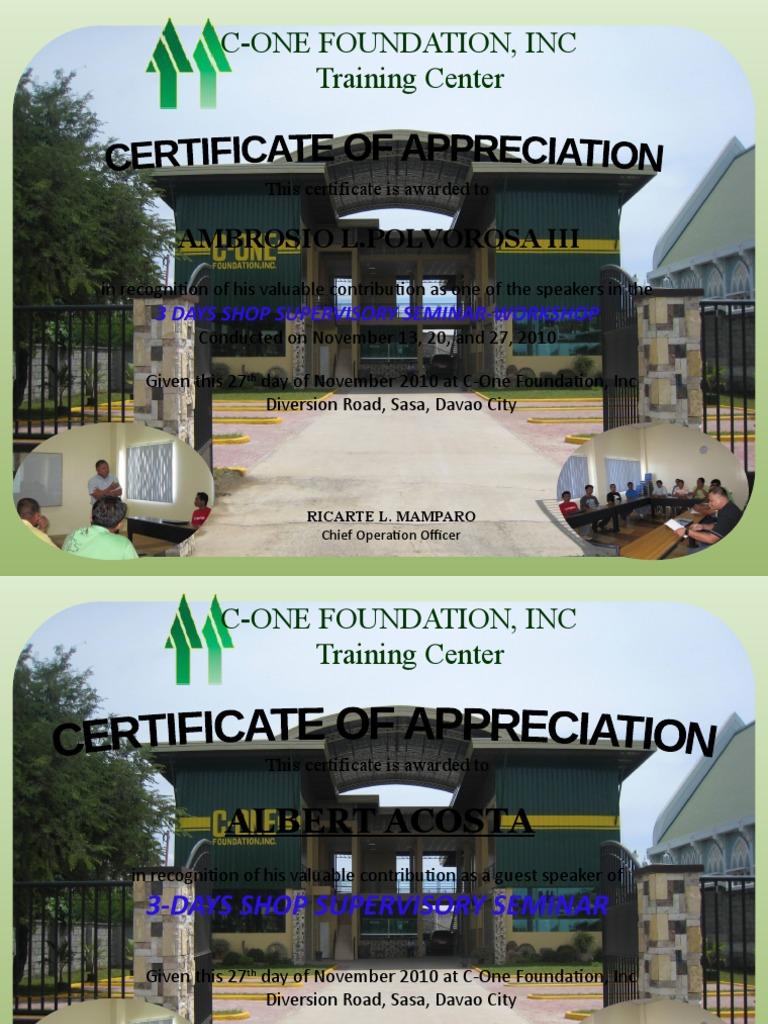 Certificate of appreciation 3 yadclub Gallery