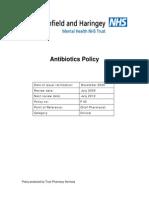 Antibiotics Policy