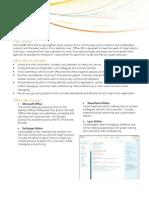 Office 365 Fact sheet