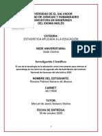 INVESTIGACION INFLUENCIA DE LA TECNOLOGIA-2020
