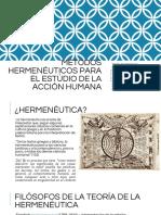Metodos hermeneuticos para estudiar la accion humana