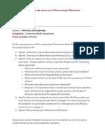 l1  assignment - needs assessment