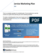 Direct mail service marketing plan