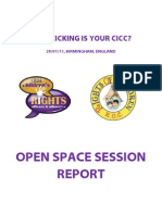 How Kicking Open Space Session Report