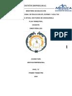 GESTION EMPRESARIAL-FORMULACION DE PROYECTO DUODECIMO (12°)