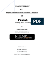 Pravah NGO MBA Summer Project