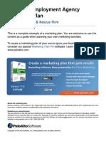 Executive employment agency marketing plan