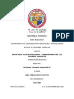 ENSAYO_SEGUNDA LEY DE LA TERMODINAMICA_PROCESOS BIOLOGICOS
