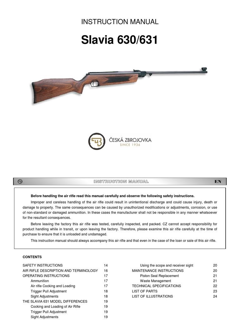 Manual-cz630-631_en | Rifle | Gun Barrel