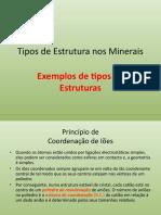 Estrutura dos Minerais