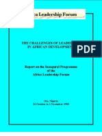 The Challenges of Leadership in Africa Development