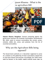 Advocate Anjuum Khanna - What is the New Agriculture Bill