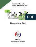 38th IChO Theoretical Test