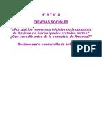 08_06 y 08_07 _¿Qué sucedió antes de la conquista de América__ Decimocuarto cuadernillo de actividades de Ciencias Sociales.