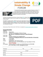 Sustainability and climate change forum