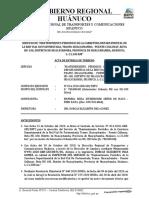 Acta de Entrega de Terreno, Huacaybamba