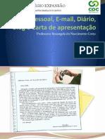 Carta pessoal, E-mail, Blog e