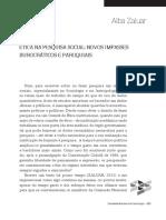 ZALUAR, Alba. Ética na pesquisa social. Novos impasses burocráticos e paroquiais..pdf