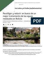 articulo Reutilizar y reducir_ en busca de un mejor tratamiento de las aguas residuales en Bolivia