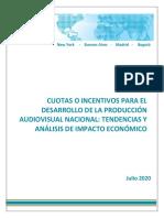 TAS 2020 Cuotas o incentivos para el desarrollo de la producción audiovisual nacional