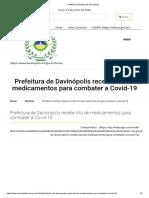 Davinópolis  kits de medicamentos para combater a Covid-
