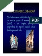 CLASE INTERDISCIPLINA EL URBANISMO