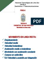 SESION III CINEMATICA RECTILINEA