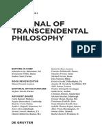 [26268329 - Journal of Transcendental Philosophy] Frontmatter