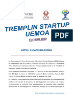 Appel à candidature_TREMPLINSTARTUPUEMOA2020_CCICI