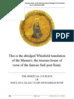 The Masnavi I Ma'Navi by Maulana Jalalu-'D-din Muhammad Rumi Abridged and Translated by E.H. Whinfield [1898]