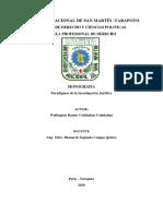Monografia de los Paradigmas de la investigacion Juridica