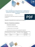 Anexo -1-Ejemplos Para El Desarrollo Tarea 3-123 - Clasificación de Proposiciones Categóricas y Métodos Para Probar Validez de Argumentos
