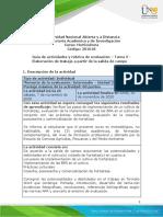 Guia de actividades y Rúbrica de evaluación-Tarea 5 - Elaboración de trabajo a partir de la salida de campo