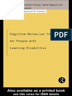 Biza Kroese Cognitive Behaviour Therapy for People With Learning Disabilities 1997