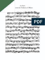Bach Concerto en la mineur ViolinSolo
