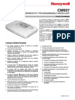 Honeywell user Manual CM937