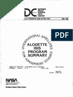 Alouette-IsIS Program Summary