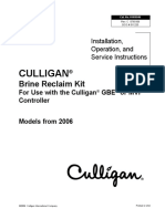 iOS Instructions 2009 - Brine Reclaim Kit For Use with the GBE or MVP Controller Water Softener - Culligan