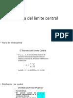 Teoría Del Limite Central