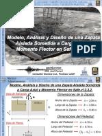 DOCIM_Tema 7_P1_Zapata Aislada Sometida a Carga Axial y Momento Flector