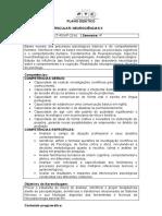 PLANO-Neurociências II - 4o- Semestre