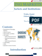 Emerging Market Presentation 2020 and Case Study on Indian Financial Market and Systems