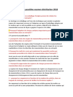 Questions Cours Distribution 2018 Possibles