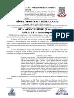 MASTER 2020 - MÓD IV - AULA 61 - NT - Apocalipse - Introdução.pdf