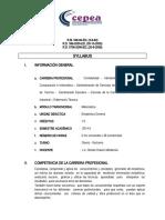 SILLABUS ESTADISTICA - 2014-II