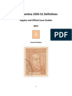 2011 Notes No. 2 Argentina 1935-51 Regular and Official Issue Studies