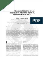 Percepción y expectativa de los ciudadanos peruanos frente al Gobierno Electrónico